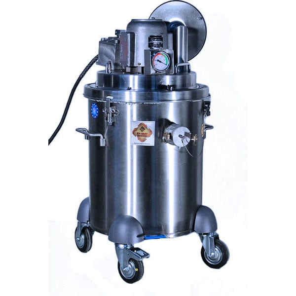 10 Gallon Compact, Maneuverable Explosion Proof 110 Volt 1-Motor Vacuum, Class I & II Compliant for vacuuming combustile dry debris.