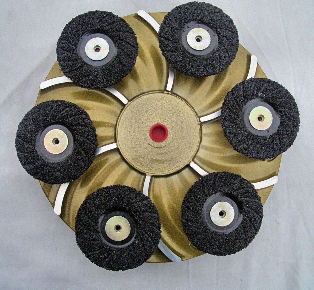 """ICS's 18"""" Floor Grinding Plates accept 4-1/2"""" ZEK Discs."""