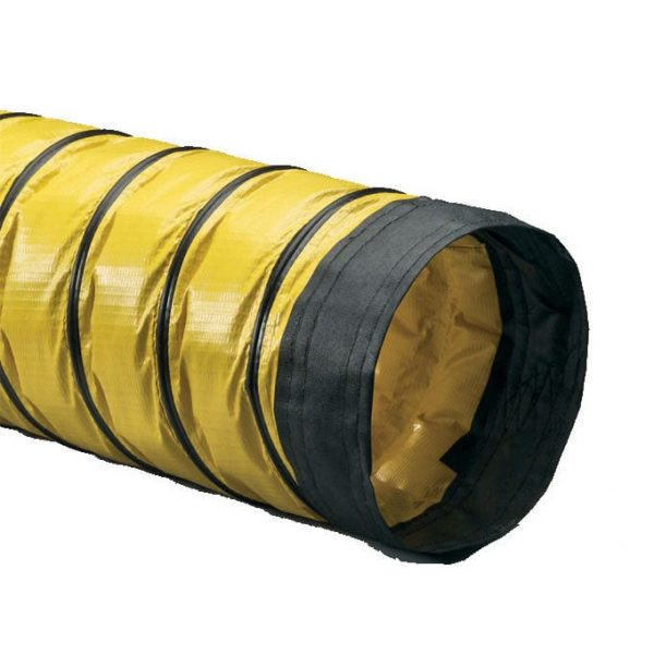 Flexible Yellow PVC Ducting.