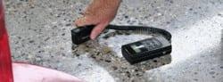 Gloss Meter - Shiny floor testing.