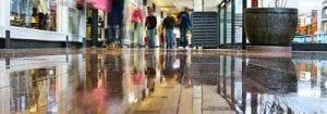 Shopping Mall, floors polished with DiamaPads.