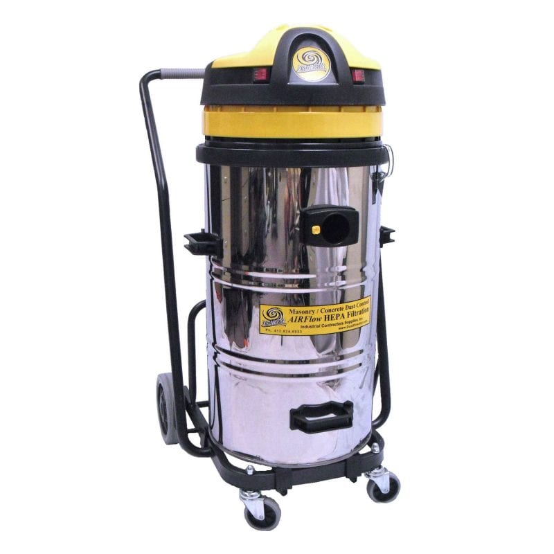 DD2000S - Dust Director 2-Motor Vacuum on Tip'n Pour Cart.