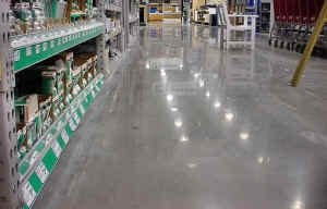 Warehouse Club - Clean & Shiny Floor Results using DIamaPads.
