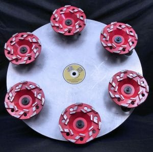 "18"" Cup Wheel Floor Plate - uses 4.5"" to 7"" cup wheels."