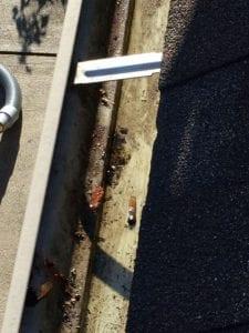 A clean, dry gutter...