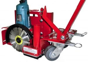 "9"" Hybrid Hot Rod Saw. Complete blade visibility & dust control for both crack chasing & saw cuts ~ 2-3/4"" depth-of-cut."