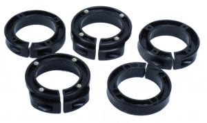 Assorted Insert Collars for installing onto a wide assortment of grinders.