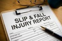 Slip & Fall Injury Report.
