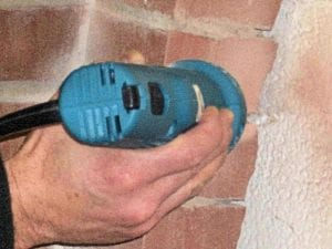 Easily removes mortar from window and door brick returns . . . complete comfort and control of the bit to completely grind-out the mortar.