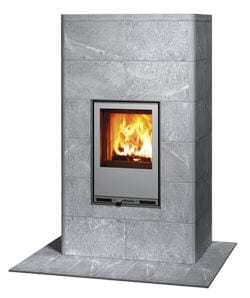 "Tuliki ""Finnish"" Soapstone Fireplace."
