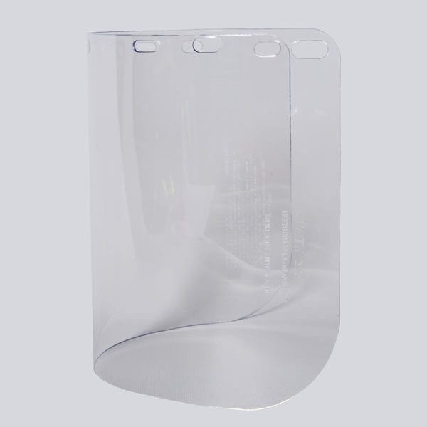 "Face Shield Window, 8"" x 15-1/2"" - Universal slots fits most models of head gear."