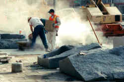 Silica dust at a typical construction site.