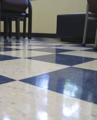"""""""Maintained"""" Clean & Shiney Floor."""