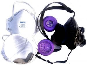 Silica Dust, OSHA & NIOSH Compliant, Dust Mask and Air Purifying Respirators