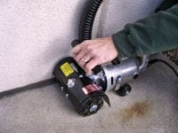 "Scarify Concrete / Remove Coatings to 1/4"" from a wall."