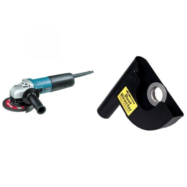 "7"" dust director and makita 5"" angle grinder combo"